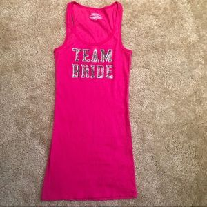 NWOT VS Team Bride Hot Pink Tank Top Size S